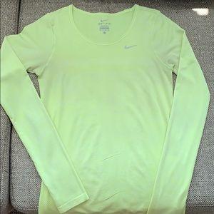 Bright yellow Nike long sleeve